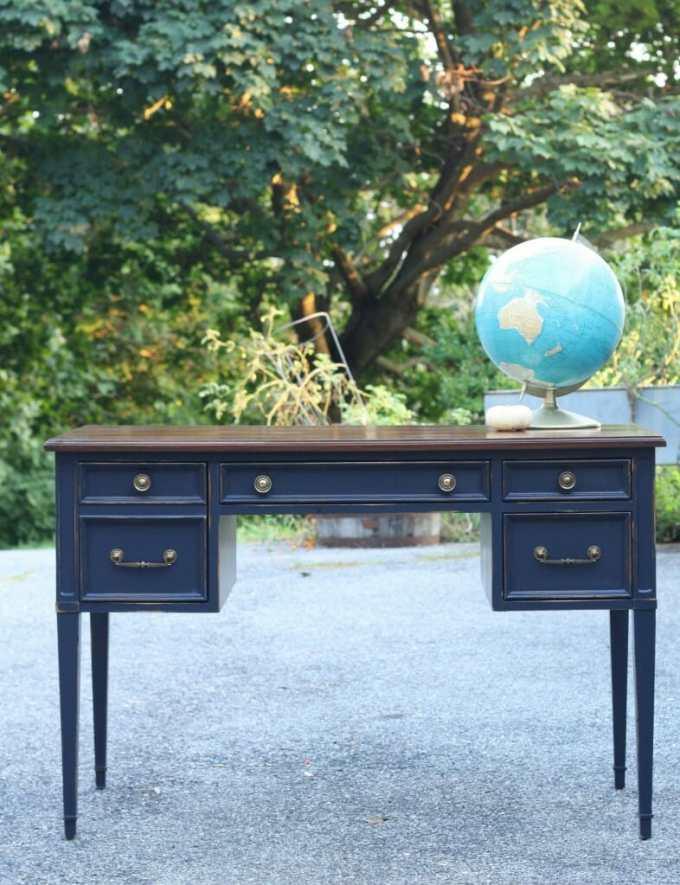 coastal blue desk with java gel top