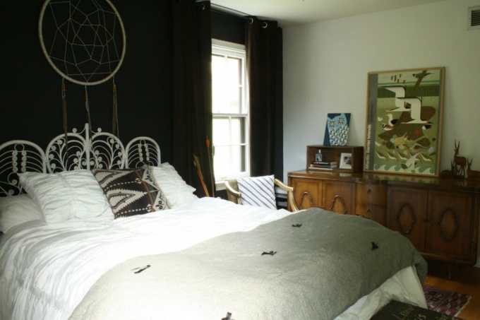 moody boho bedroom