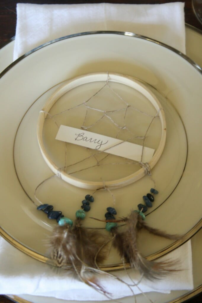 DIY dreamcatcher place cards