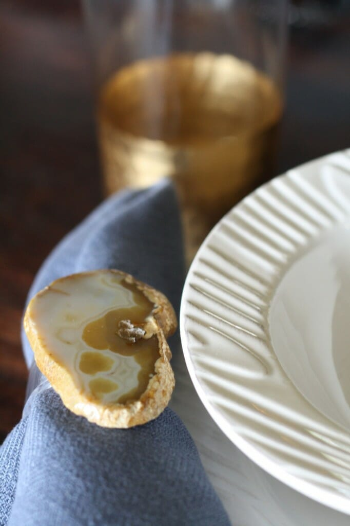 relish decor agate napkin rings