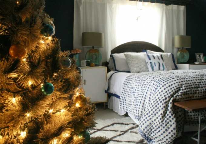 Master bedroom at Christmas