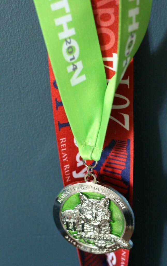 half marathon bobcat medal