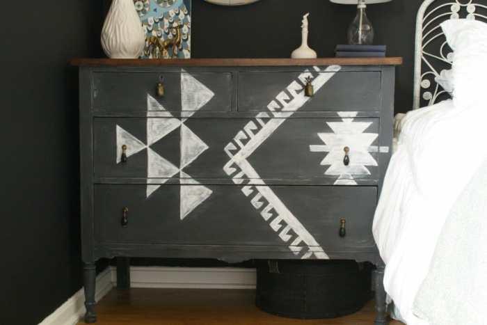 DIY Kilim Inspired Dresser