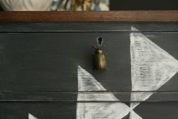 DIY Kilim Dresser with Beetle knobs