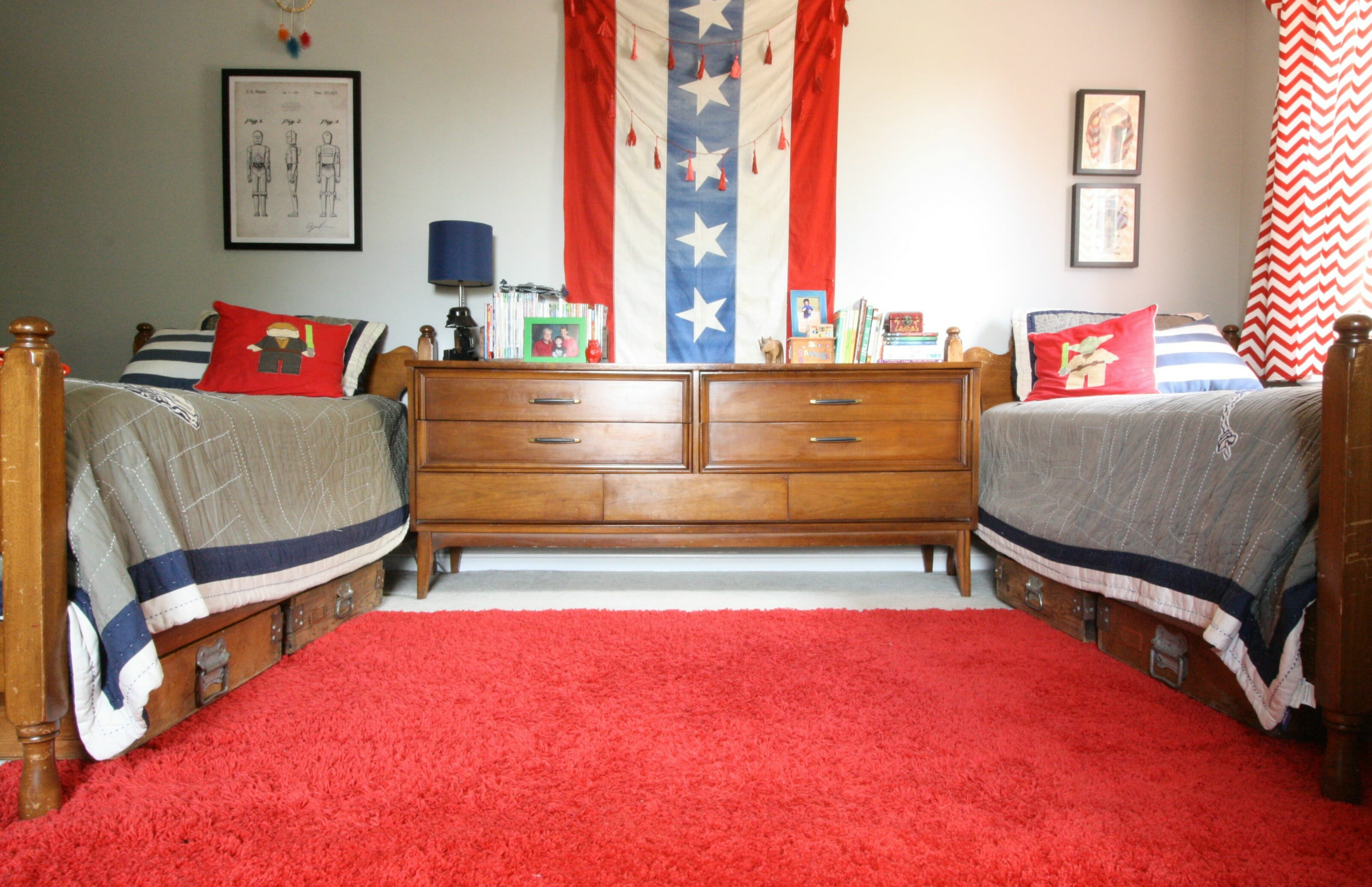 Red White And Blue Boys Bedroom