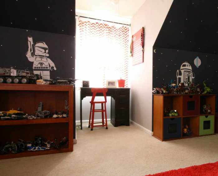 Desk Nook in Star Wars and Americana Room