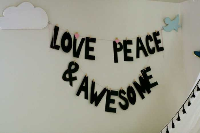 Love Peace & Awesome Banner