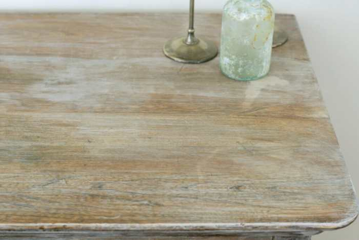 details of wood top