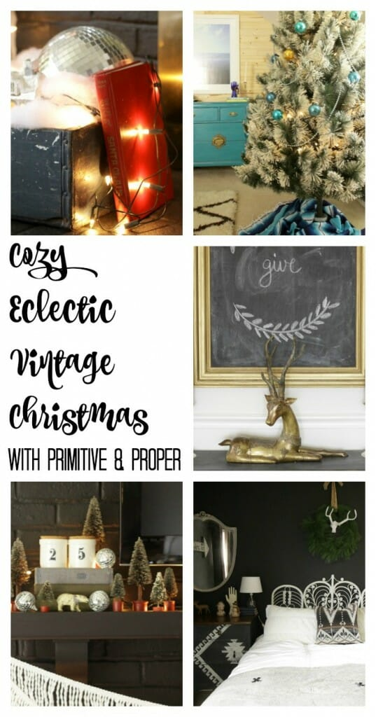 Blogger Stylin' Home Tour- Cozy Eclectic Vintage Christmas