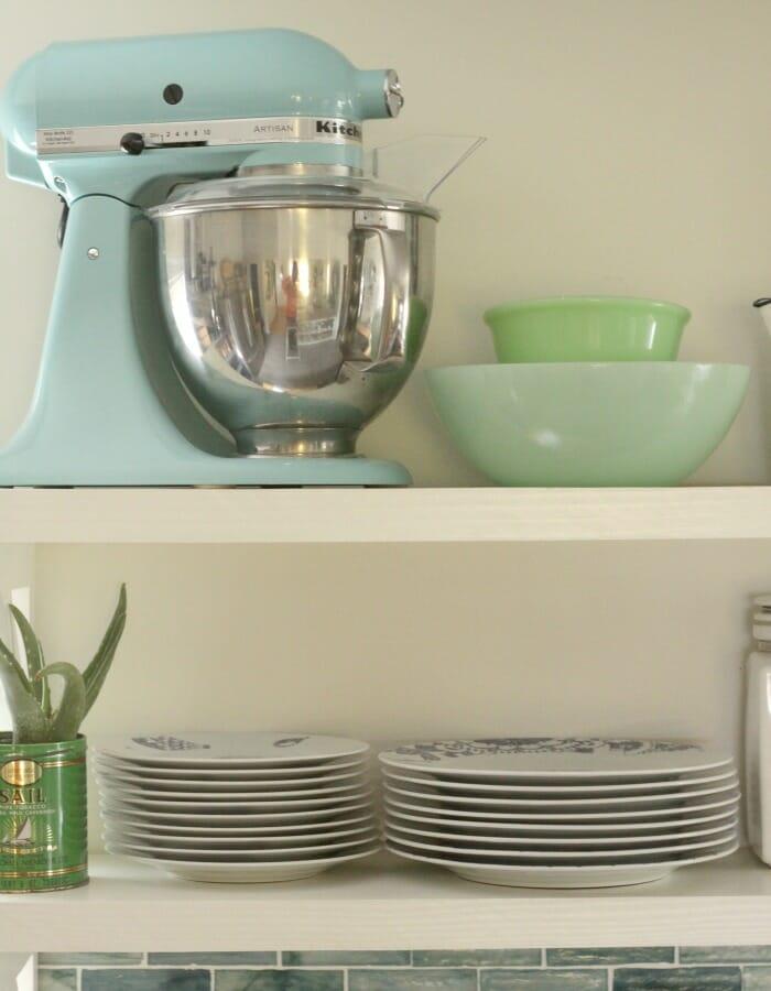Kitchenaid in Aqua and Vintage Jadeite