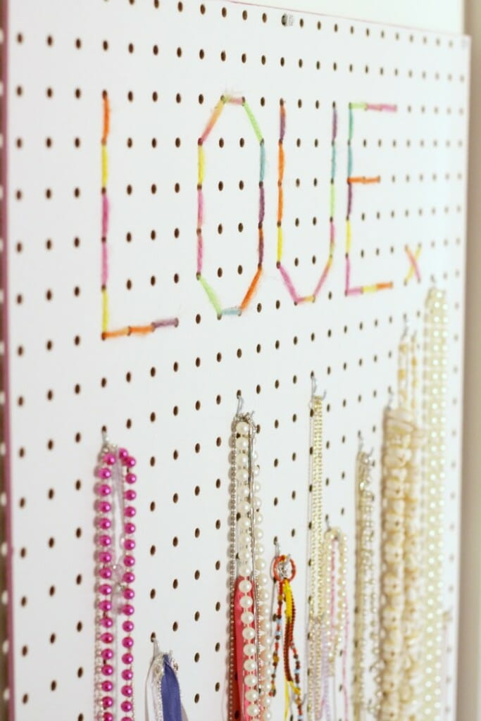 Jewelry Display with Pegboard