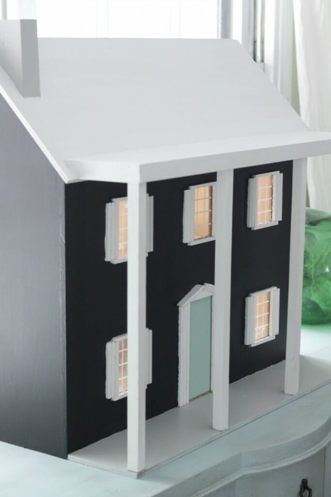 Painted Dollhouse Exterior