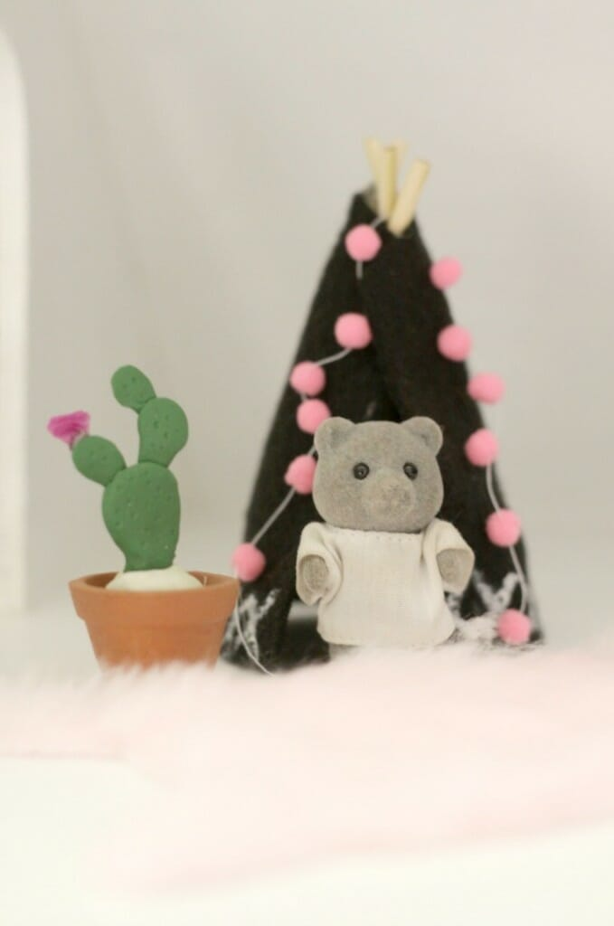 DIY Miniature Clay Cactus