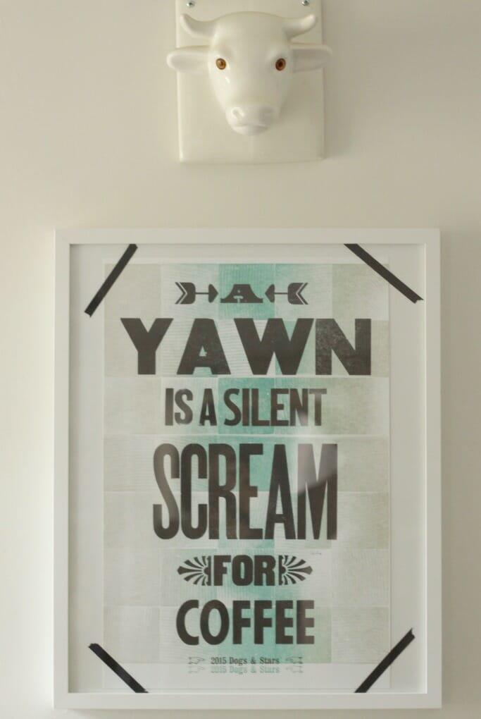 A Yawn is a silent scream for coffee print