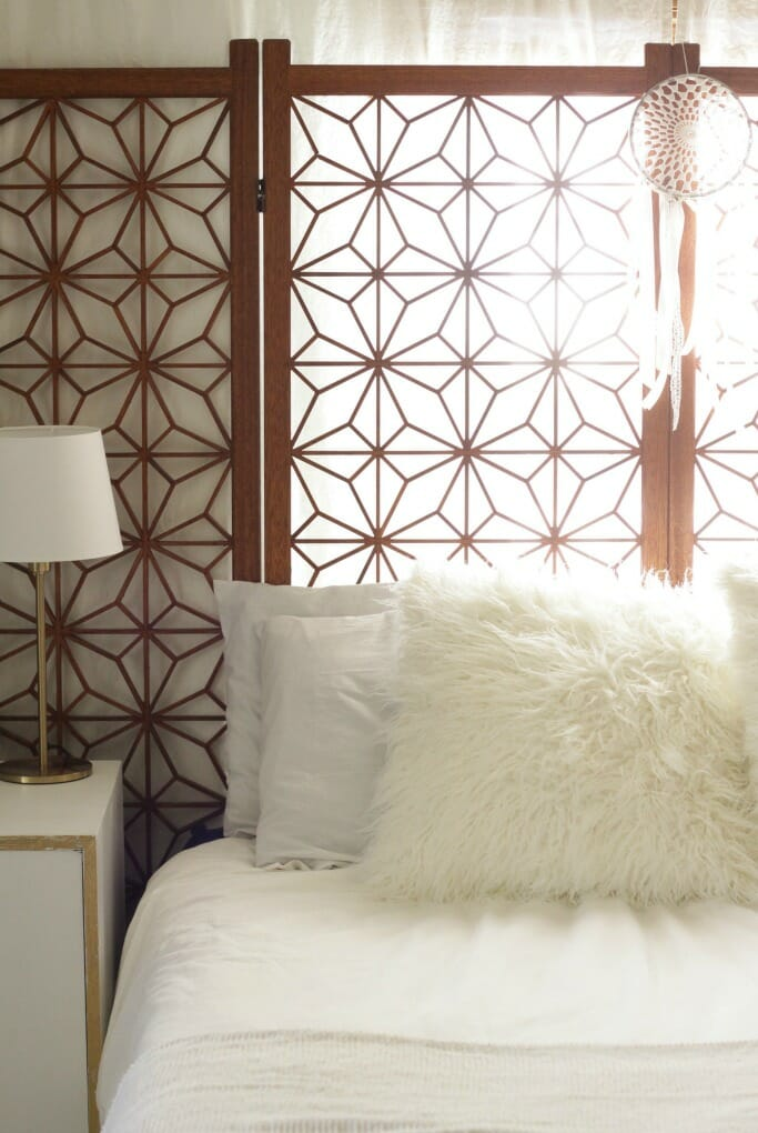 White Wood Boho Modern Bedroom