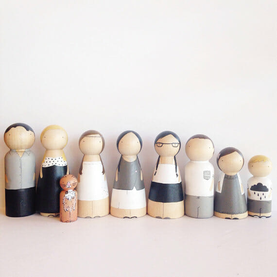 dollhouse etsy peg people