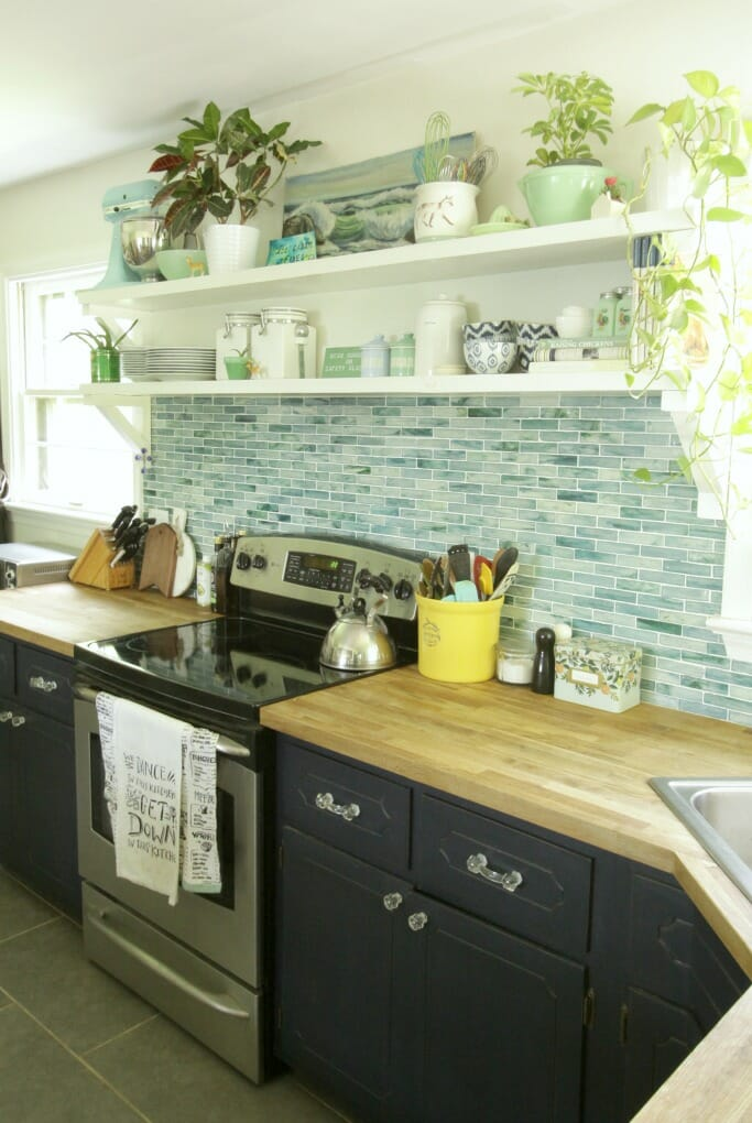 Eclectic Kitchen in Blues and Greens
