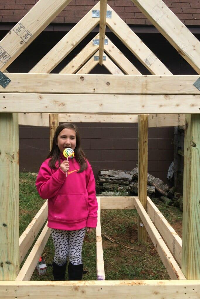 Emmy in coop frame