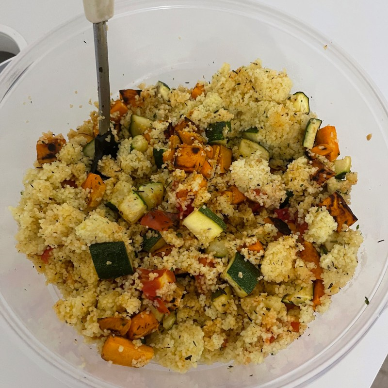 My Veggie Couscous Bowl for Back to School