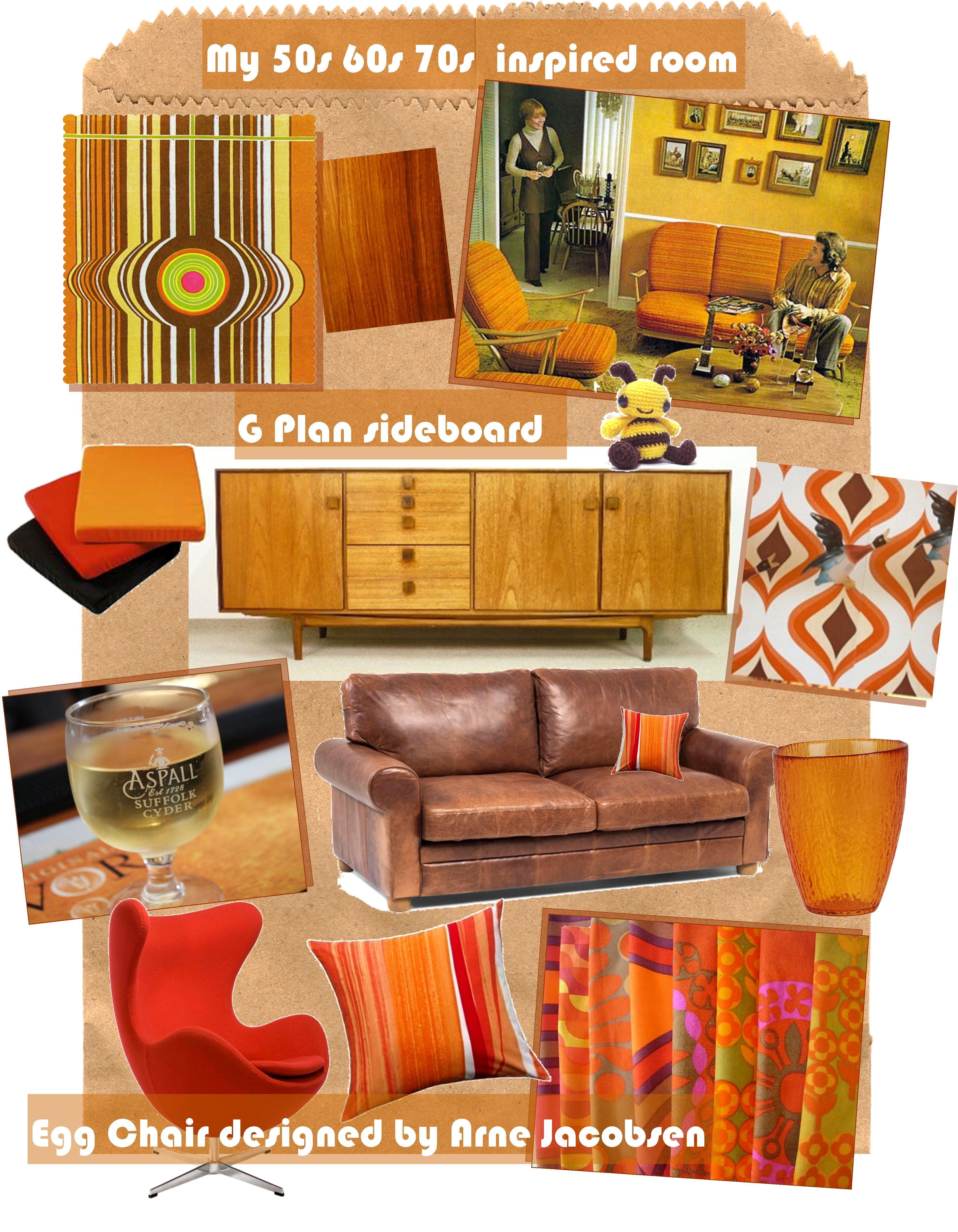 Interior Design Inspirations For My Retro Living Room