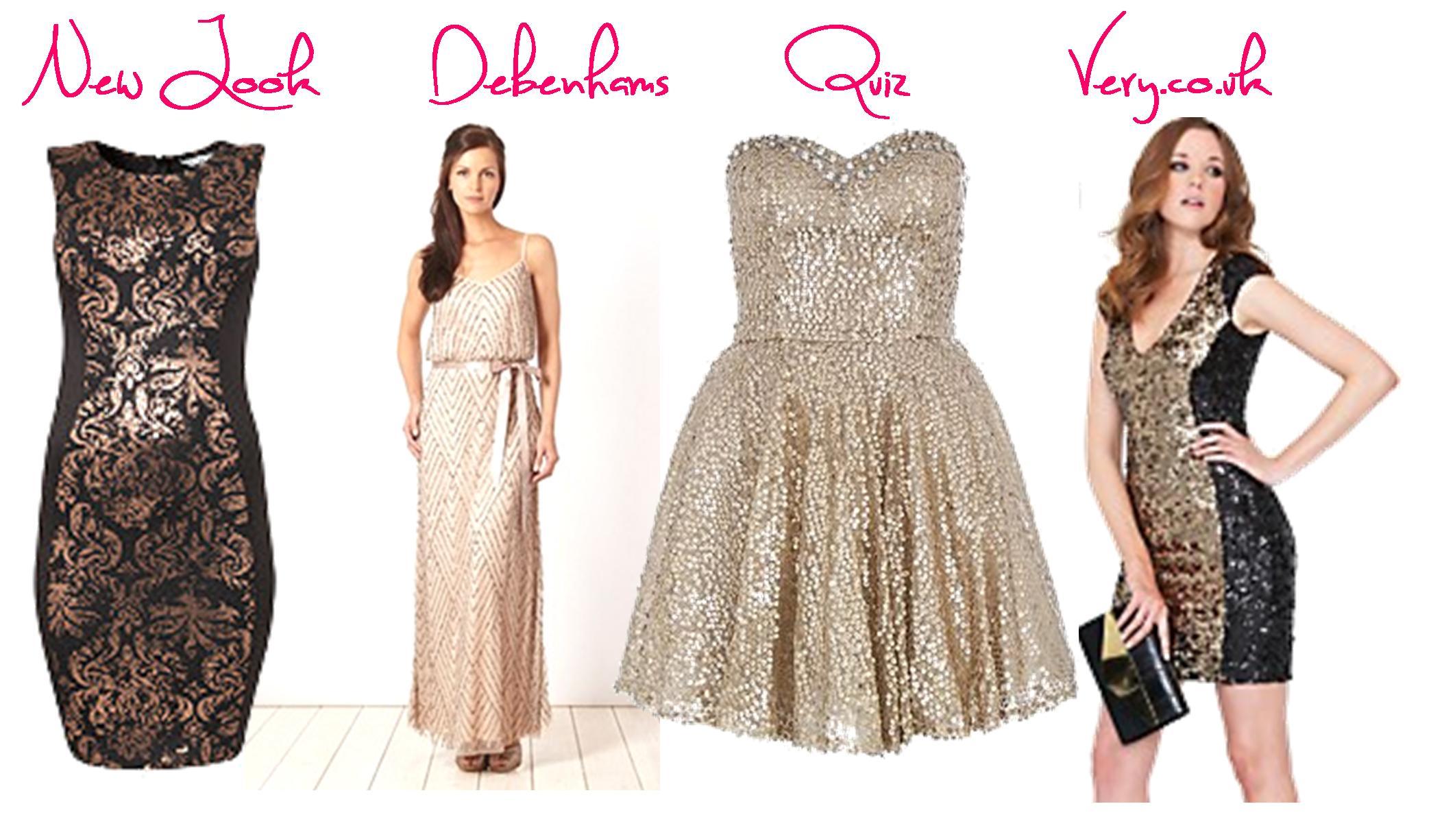 fa2b50e502ba christmas dresses silver gold black sequin fashion party outfits very  debenhams quiz new look