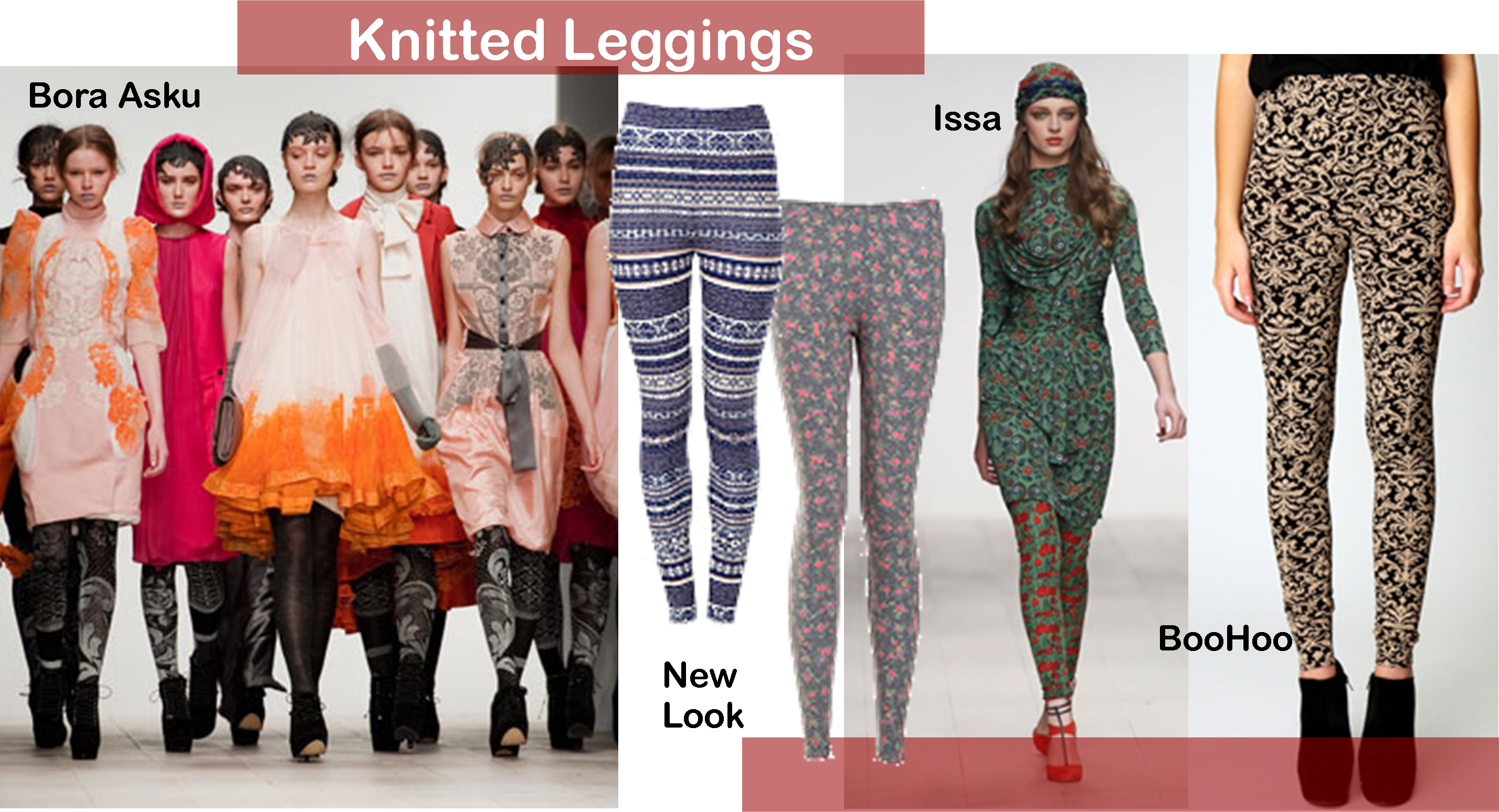 Fashion for frosty mornings: Knitted leggings