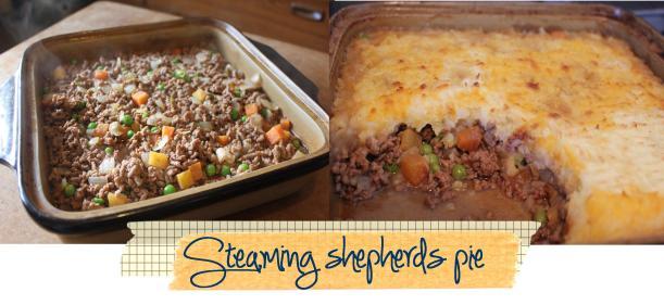 steaming shepherds cottage pie recipe pieday friday cooking method