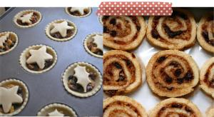 pieday friday baking mince pie pinwheel stars holly