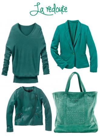 emerald la redoute jacket coat jumper bag 2013 fashion trend