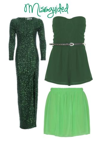 emerald missguided dress gown skirt 2013