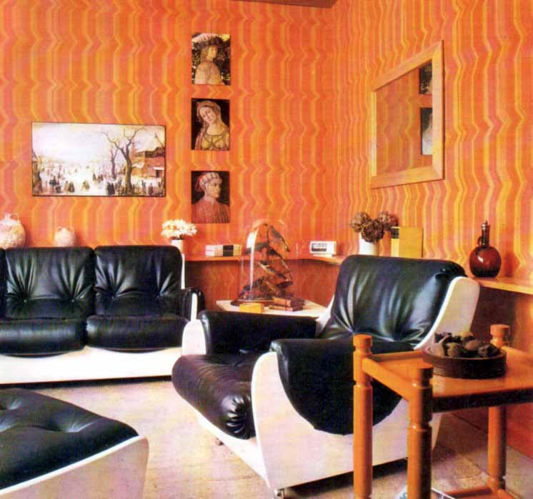 Inspirations for a retro livingroom Wall coverings  My