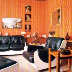 Retro Style Living Room Furniture Art Decor Ideas Inspirations For A Living-room: Wall Coverings | My ...