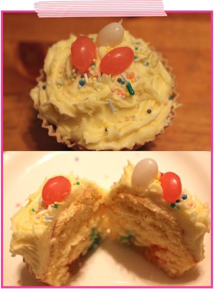 jelly beans vanilla sponge cupcake cooking