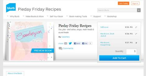 blurb book store cassiefairy profile page pieday friday recipe book