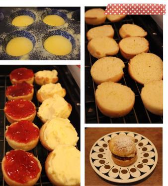 Cassiefairy baking Mini Victoria vanilla Sponge Cakes cooking recipe