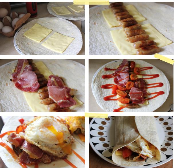 diy mcdonalds breakfast wrap brunch recipe