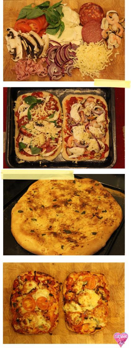 Pieday Friday recipe blog - homemade pizza dough and garlic bread recipe