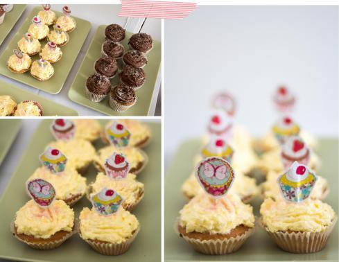 birthday cupcakes vanilla and chocolate