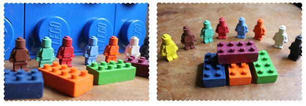 little posties crayon lego men and bricks