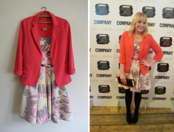 Outfit for Company magazine style blogger awards from Apricot and New Look
