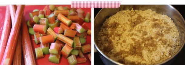 Cassiefairys pieday friday rhubarb crumble recipe