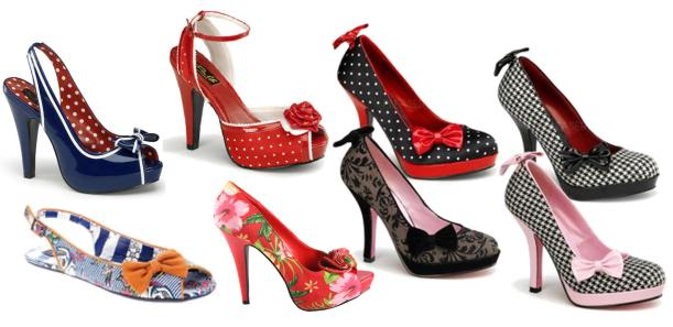 Amazing shoes that I can't help drooling over - all from PinUp Couture