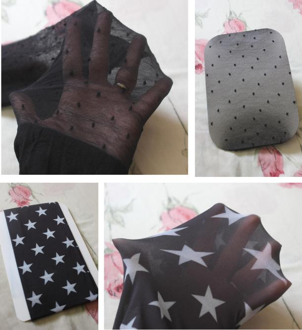 Dawns UK Tights review from Cassiefairy - stars and polkadots hoisery