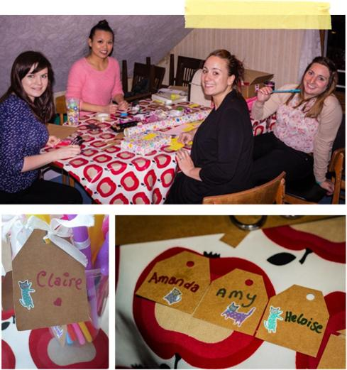 DIY craft making straw labels for a vintage hen party by laceyinplaces