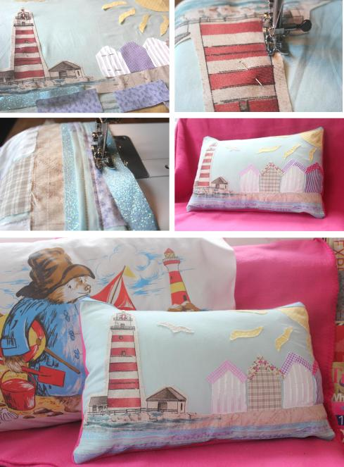 inspiration challenge for June beach hut cushion by cassiefairy using abakhan porto