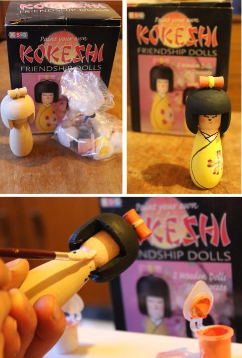 inspiration challenge for july andy greenacre kokeshi friendship doll maneki neko lucky cats