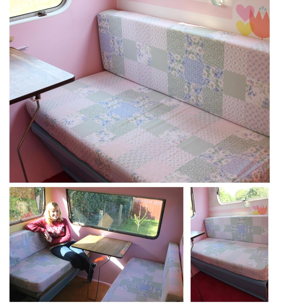 My little vintage caravan project ~ take a seat