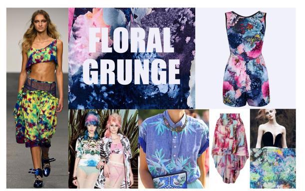 floral grunge fashion trend autumn winter 2013