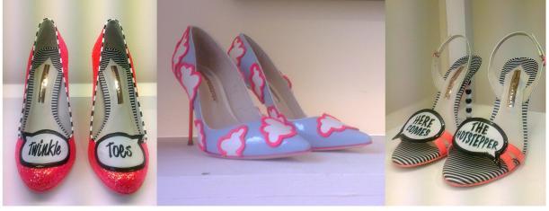 Tuesday Shoesday - london fashion week sophia websters spring summer 2014 footwear cartoon shoe designs