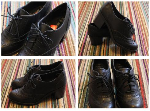 tuesday shoesday back to school black leather ankle shoes from new look